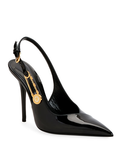 Safety Pin Slingback Pumps