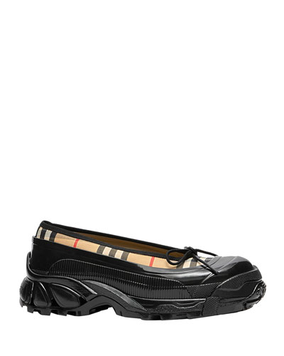 Linford Check Sneaker-Style Flats