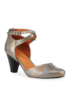 Gentle Souls Raven Metallic Leather Comfort Pumps