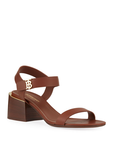 Burberry Hollywell Chunky Leather Sandals