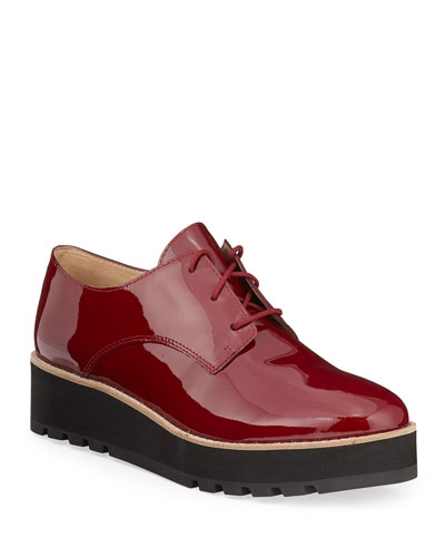 Eddy Patent Platform Oxford Shoes