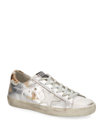 Superstar Metallic Lace-Up Sneakers