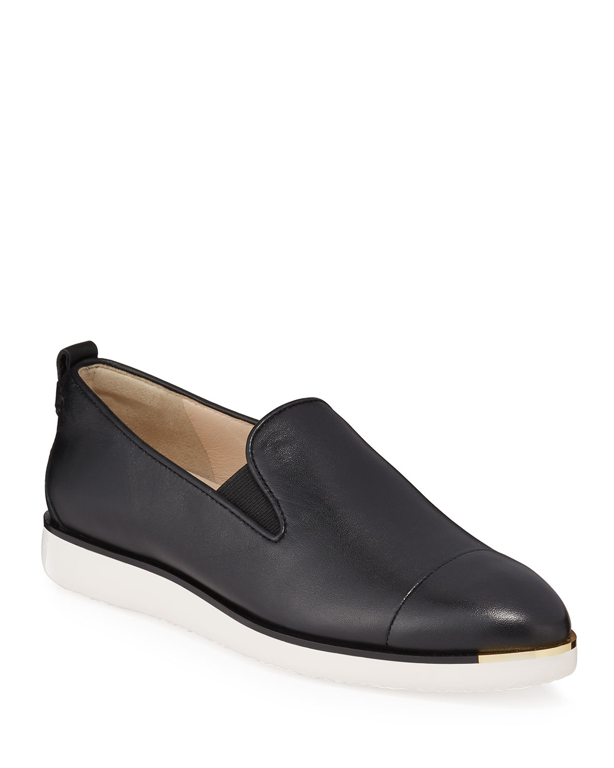 Cole Haan Loafers GRAND AMBITION LEATHER SLIP-ON LOAFERS