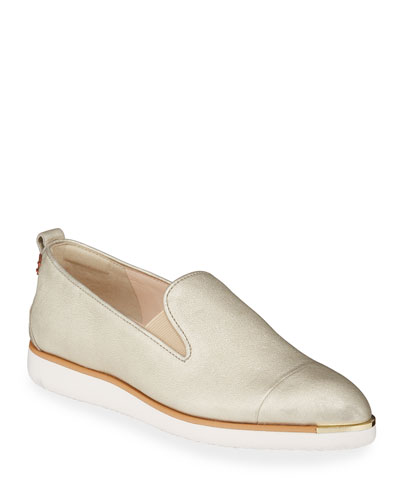 Grand Ambition Metallic Slip-On Loafers