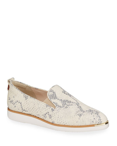 Grand Ambition Snake-Print Slip-On Loafers
