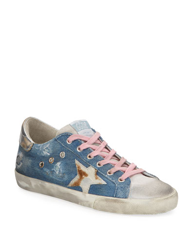 Superstar Denim Metallic Sneakers
