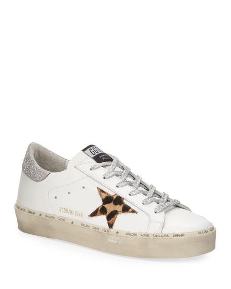 Golden Goose Hi Star Leopard Metallic Sneakers