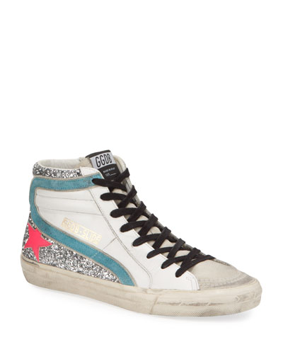Slide High-Top Zip Sneakers