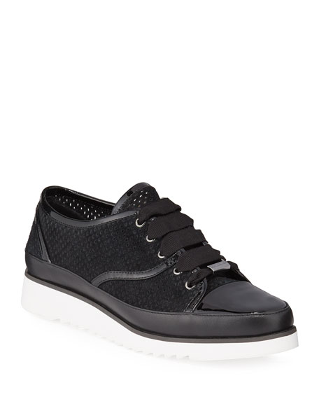 Donald J Pliner Flipp Perforated Suede Sneakers
