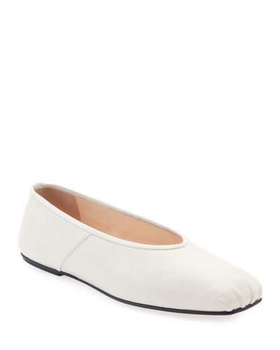 Ballet Flats in Smooth Calfskin