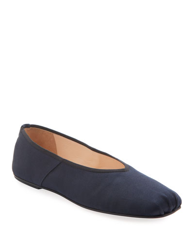 Ballet Flats in Washed Satin