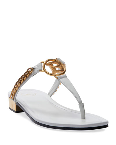 Presly Flat Leather Sandals