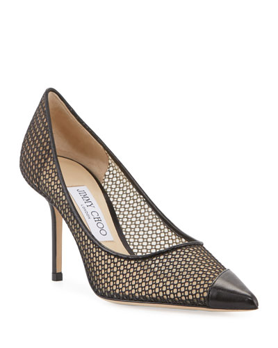 Love 85mm Mesh And Leather Pumps