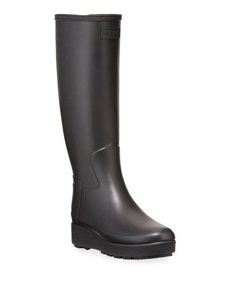 Hunter Boot Refined Creeper Tall Rain Boots