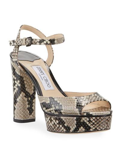 Snake Print Shoes | Neiman Marcus
