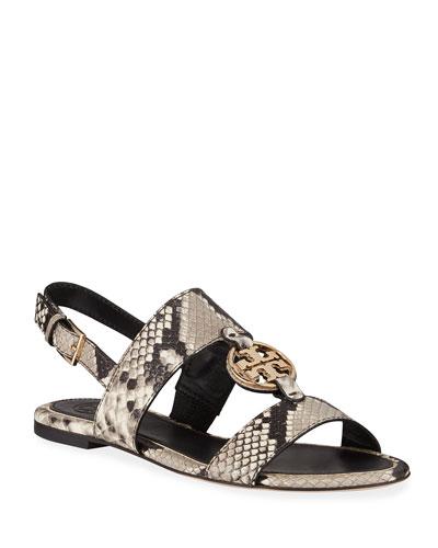 Miller Metal Flat Sandals