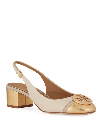 Minnie Cap-Toe Slingback Pumps