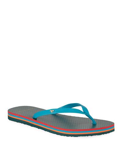 Leather Flip-Flop Sandals