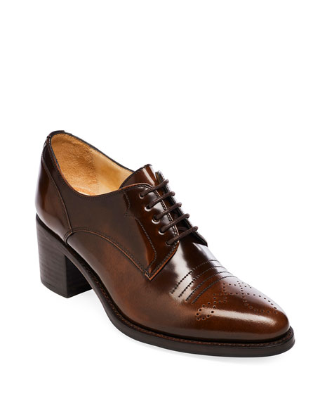 The Office of Angela Scott Miss Button Derby Mid-Heel Loafers