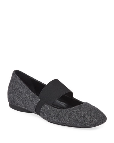 Dennis Tweed Mary Jane Flats
