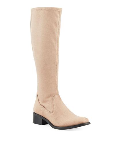 Zela Stretch Suede Knee Boots