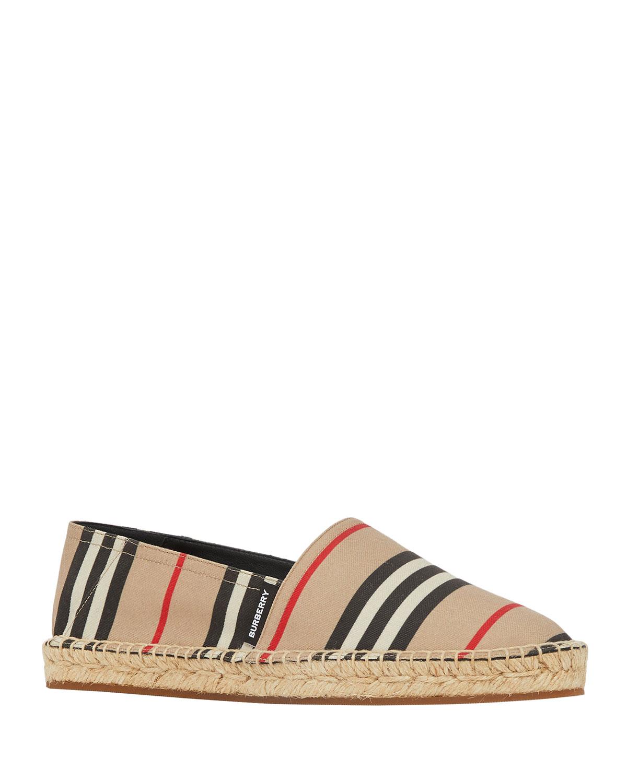 Alport Striped Espadrille Slip-On Loafers