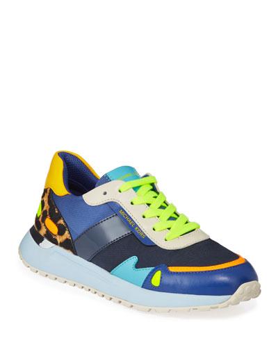Monroe Colorblock Mixed Media Trainer Sneakers