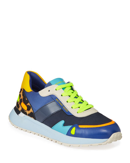 MICHAEL Michael Kors Monroe Colorblock Mixed Media Trainer Sneakers