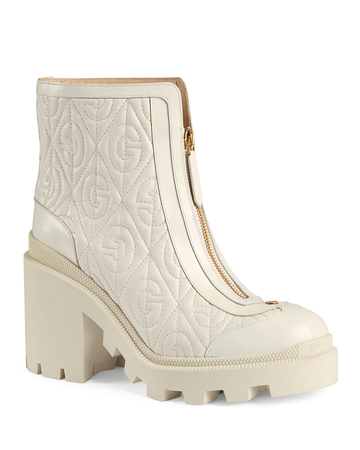 Gucci Boots TRIP 70MM QUILTED LEATHER BOOTIES