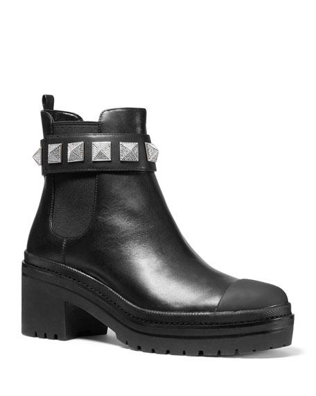 MICHAEL Michael Kors Glenn Studded Leather Booties