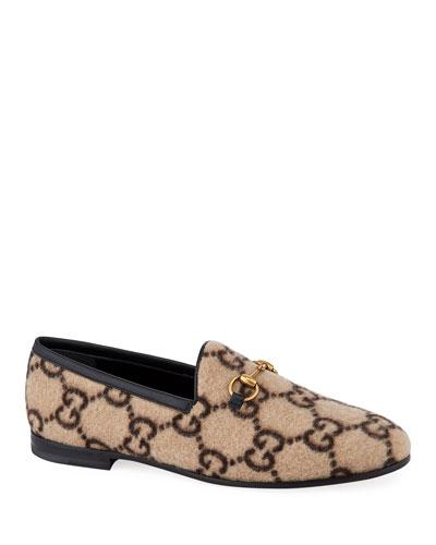 Jordaan Flat GG Flannel Loafers