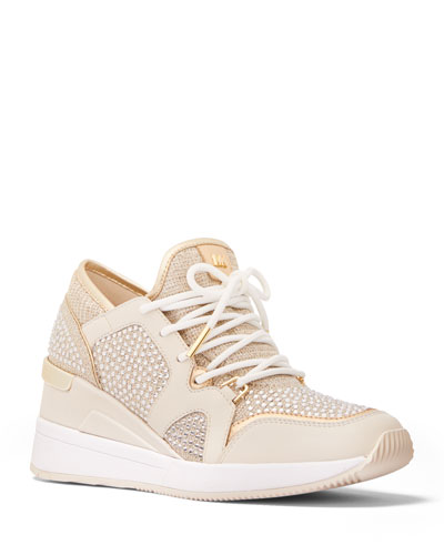 Liv Shimmery Stud Fashion Sneakers