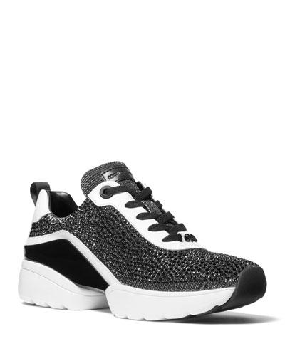 Jada Shimmery Stud Trainer Sneakers