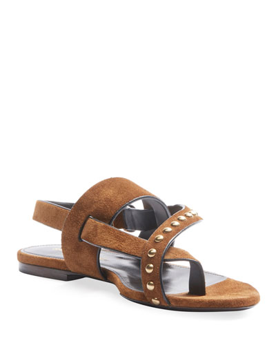 Gia Suede Studded Sandals