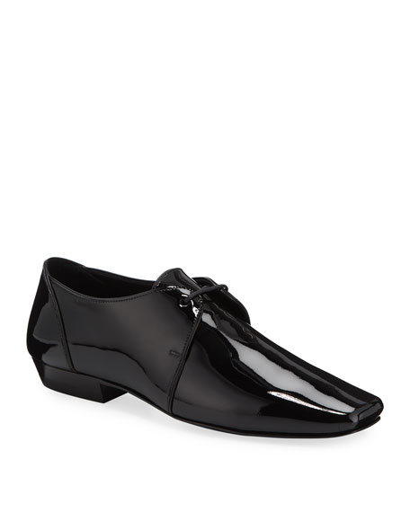 Saint Laurent Leon Patent Leather Tuxedo Shoes