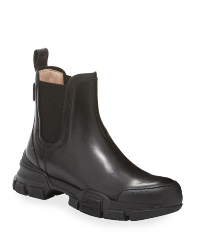 Leon Leather Slip-On Booties