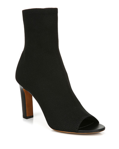 Ezra Open-Toe Knit Booties