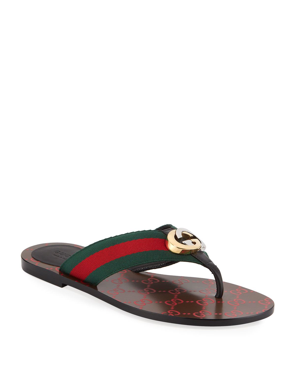 Gucci Sandals KIKA WEB THONG SANDALS