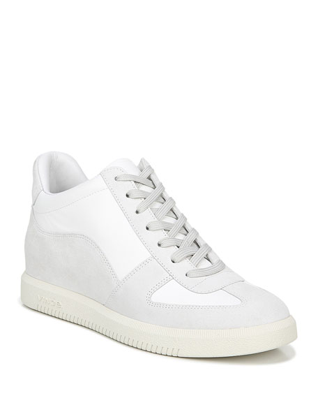 Vince Ina Suede/Leather Flatform Sneakers