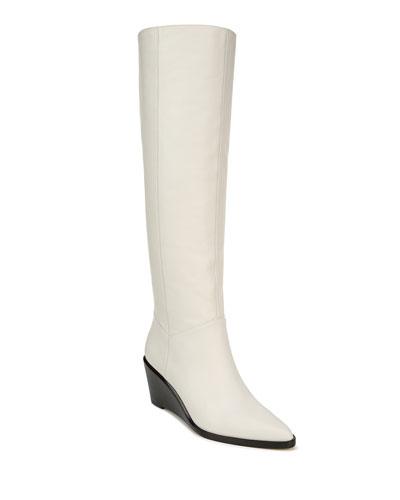 Marlow Turia Leather Wedge Knee Boots