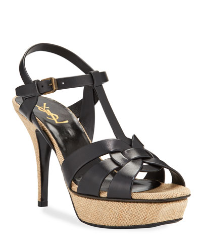 Tribute Platform Sandals with Canvas Bottom