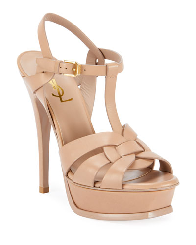 Tribute Leather Stiletto Sandals