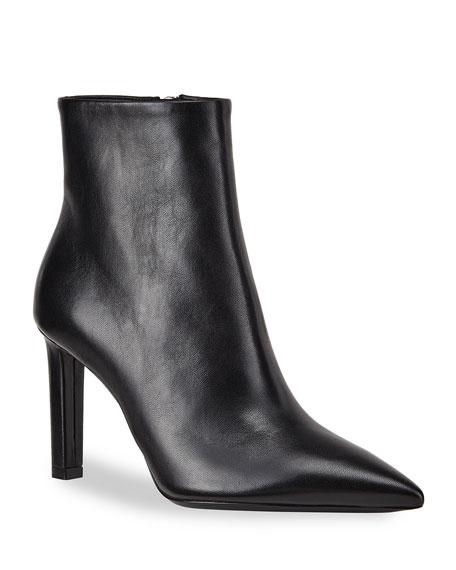 Saint Laurent Kate Pointed-Toe Zip Booties