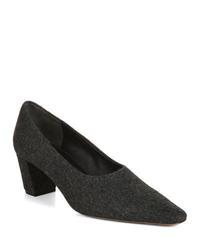 Ania High-Cut Mohair Pumps