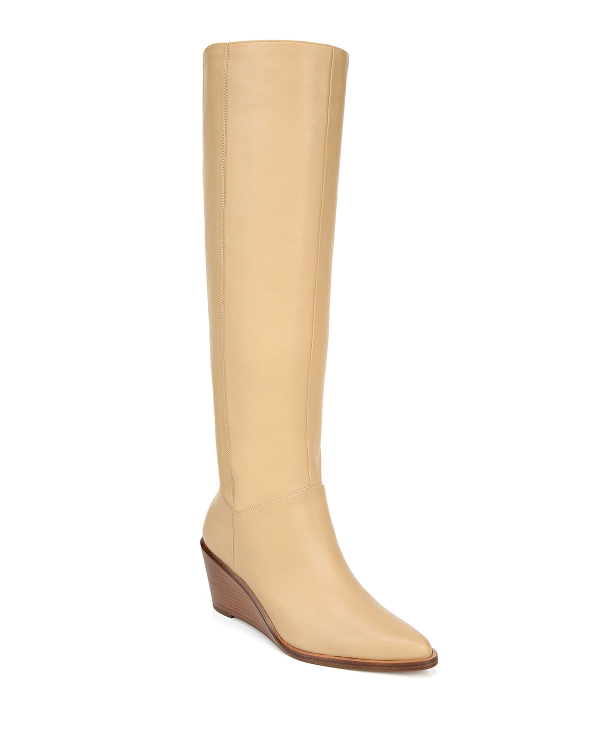 Vince Boots MARLOW HEAVY LEATHER WEDGE KNEE BOOTS