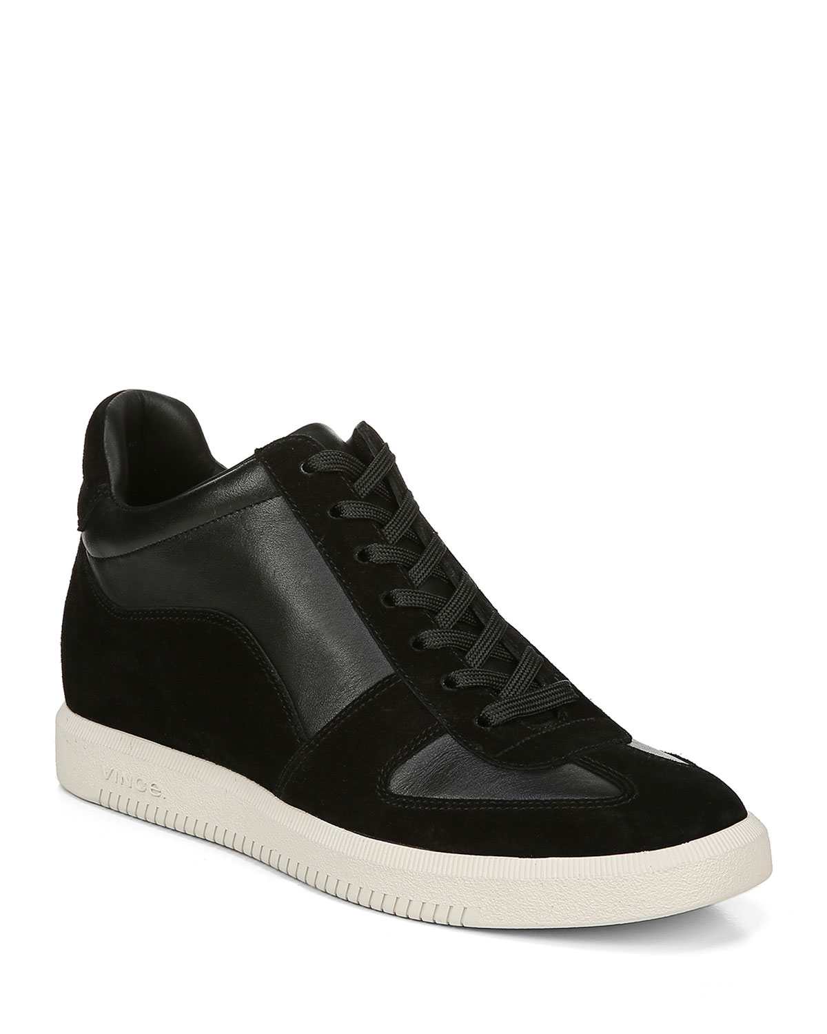 Vince Flats INA SUEDE/LUX LEATHER FLATFORM SNEAKERS