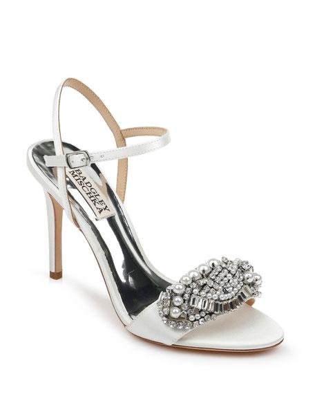 Badgley Mischka Odelia Satin Sandals