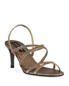 Pedro Garcia Xareni 65mm Crisscross Crystal Sandals