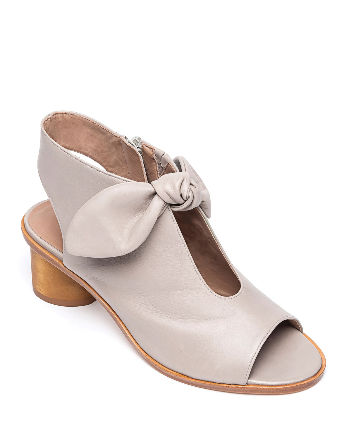 Luna Leather Knotted Booties