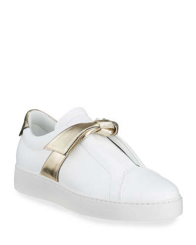 Clarita Two-Tone Knot Sneakers